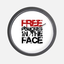 Free Punches In The Face Wall Clock