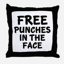 Free Punches In The Face Throw Pillow