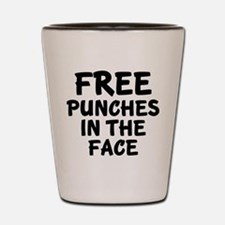 Free Punches In The Face Shot Glass