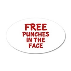 Free Punches In The Face 22x14 Oval Wall Peel