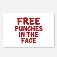 Free Punches In The Face Postcards (Package of 8)