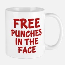 Free Punches In The Face Mug