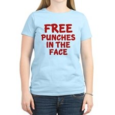 Free Punches In The Face T-Shirt