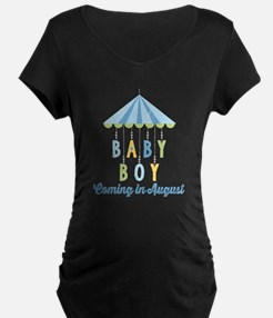 Baby Boy Due in August T-Shirt