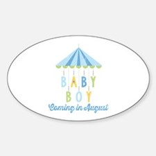 Baby Boy Due in August Decal