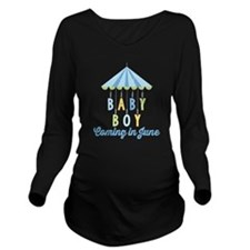 Baby Boy Due in June Long Sleeve Maternity T-Shirt