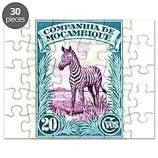 1937 Mozambique Company Zebra Postage Stamp Puzzle