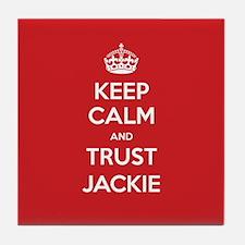 Trust Jackie Tile Coaster
