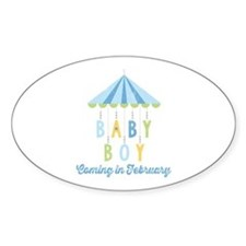 Baby Boy Due in February Decal