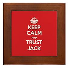 Trust Jack Framed Tile