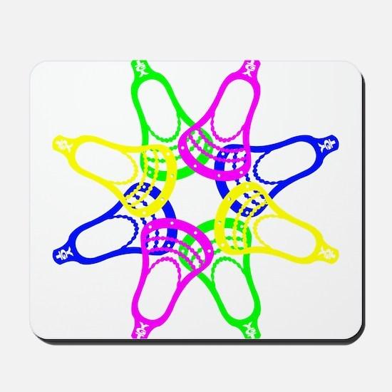 Lacrosse Neon Heads Mousepad
