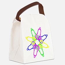 Lacrosse Neon Heads Canvas Lunch Bag