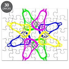 Lacrosse Neon Heads Puzzle