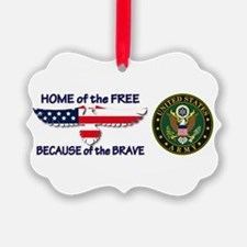 USArmy Home of the Free Ornament
