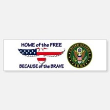 USArmy Home of the Free Bumper Bumper Bumper Sticker