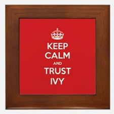 Trust Ivy Framed Tile