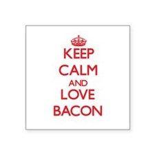 Keep calm and love Bacon Sticker