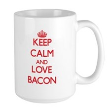 Keep calm and love Bacon Mugs