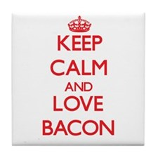 Keep calm and love Bacon Tile Coaster