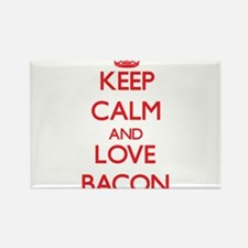 Keep calm and love Bacon Magnets