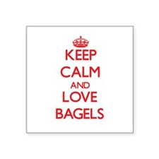 Keep calm and love Bagels Sticker