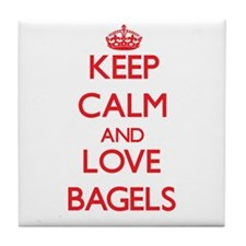 Keep calm and love Bagels Tile Coaster