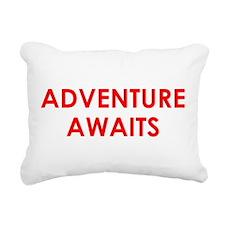 Adventure Awaits! Rectangular Canvas Pillow