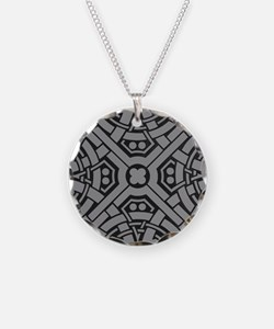 Art Deco Centric Charcoal Necklace