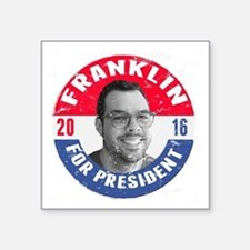 "Franklin 2016 Square Sticker 3"" x 3"""