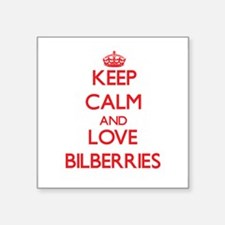 Keep calm and love Bilberries Sticker