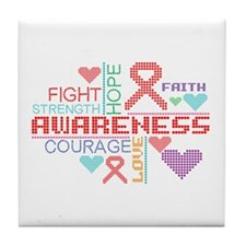 Epidermolysis Bullosa Slogans Tile Coaster