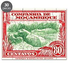 1937 Mozambique Hippopotamus Postage Stamp Puzzle
