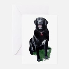 Morgan 2 Black Lab Greeting Cards (6)