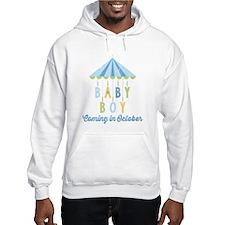 Baby Boy Due in October Hoodie