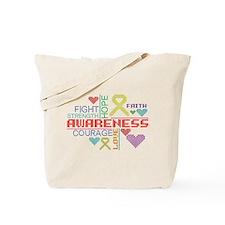 Endometriosis Slogans Tote Bag