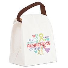Endometriosis Slogans Canvas Lunch Bag