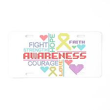 Endometriosis Slogans Aluminum License Plate