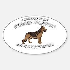 GERMAN SHEPHERD DOG WHISPERER Oval Decal