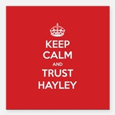 "Trust Hayley Square Car Magnet 3"" x 3"""