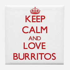 Keep calm and love Burritos Tile Coaster