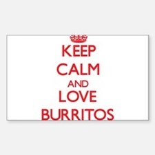 Keep calm and love Burritos Decal