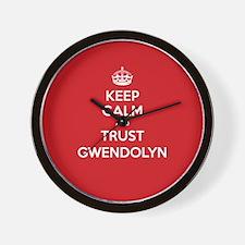 Trust Gwendolyn Wall Clock