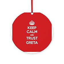 Trust Greta Ornament (Round)