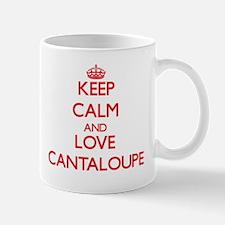 Keep calm and love Cantaloupe Mugs