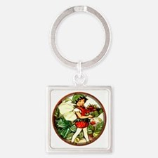 Fairy 4 Square Keychain