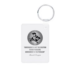 (Patriot) Government is the Problem Keychains