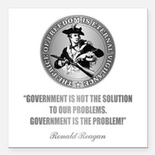 (Patriot) Government is the Problem Square Car Mag