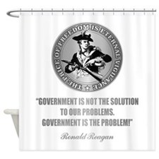 (Patriot) Government is the Problem Shower Curtain