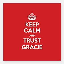 "Trust Gracie Square Car Magnet 3"" x 3"""
