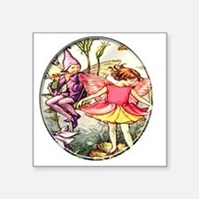 "fairy 10 Square Sticker 3"" x 3"""